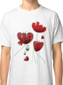 Poppy red granate sexy landscape summer france bloom garden t-shirt Classic T-Shirt