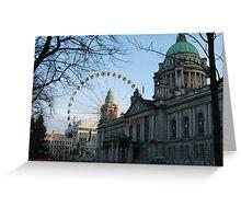Belfast City Hall + The Belfast Wheel Greeting Card