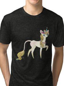 Sweet forest Unicorn and Hedgehog friend Tri-blend T-Shirt