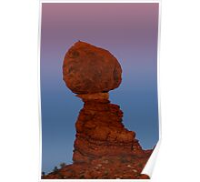 Balanced Rock at Sunset Poster