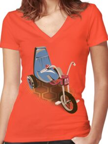 Tricycle 237  Women's Fitted V-Neck T-Shirt