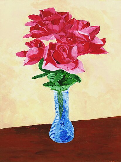 Vase of Red Flowers by Rodney Campbell