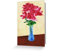Vase of Red Flowers Greeting Card