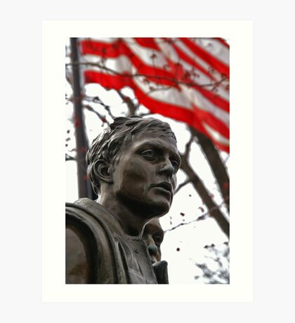 Vietnam Memorial Soldiers - Washington, DC Art Print