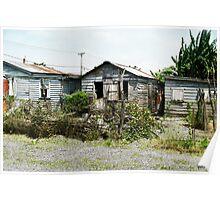 Belizean Houses Poster