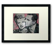 Lucy & Desi Framed Print