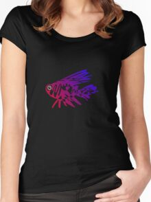 Rainbow Fish Women's Fitted Scoop T-Shirt
