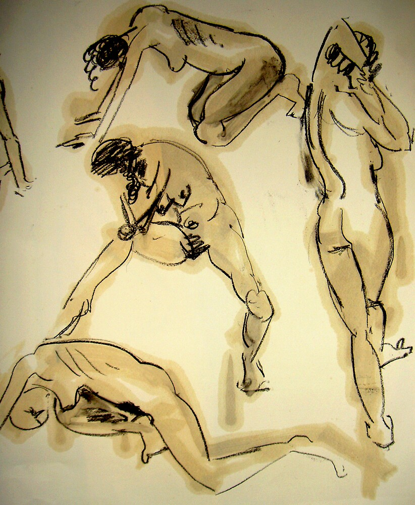 2 minute studies of a woman by Jeremy Wallace