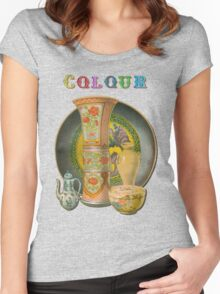 A Colourful T-Shirt. Women's Fitted Scoop T-Shirt