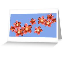 Shining red flowers Greeting Card