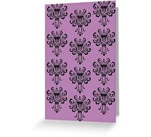 Haunted Mansion Wallpaper!  Greeting Card