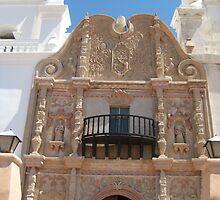 Plateresque Facade of San Xavier del Bac by Michael Cohen