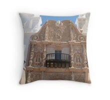 Plateresque Facade of San Xavier del Bac Throw Pillow
