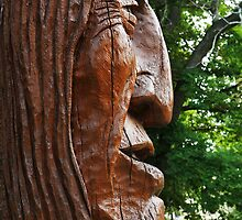 Indian Head Wood Carving by Adam Bykowski