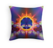 Floral Sunset Throw Pillow