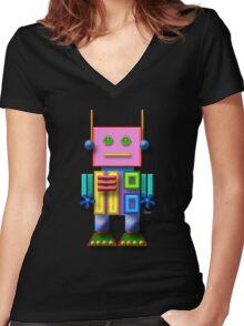 Little Robot Women's Fitted V-Neck T-Shirt