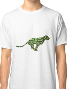 Leopard Black and Green Print Classic T-Shirt