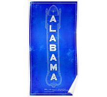 Alabama Theatre Marquee Blueprints - Classic Birmingham Poster