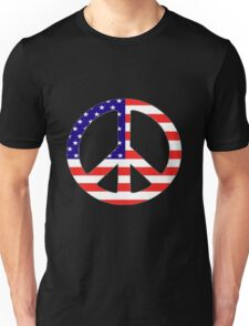 American Flag Peace Symbol Unisex T-Shirt
