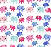 Baby Elephant Pattern by BuzzEdition