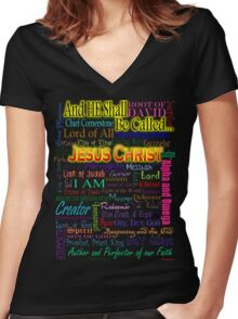 He Shall Be Called Women's Fitted V-Neck T-Shirt