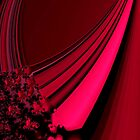 Red Satin Tapestry by Dana Roper
