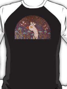 White Peacock in the Night Garden Mosaic T-Shirt