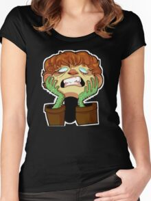 cactus face Women's Fitted Scoop T-Shirt
