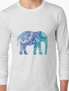 Blue Elephant Long Sleeve T-Shirt