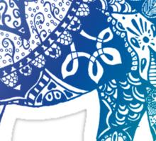 Blue Elephant Sticker