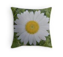 White Flower Plastic Throw Pillow