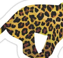 Leopard Brown and Yellow Print Sticker