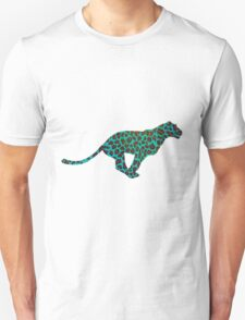 Leopard Brown and Teal Print T-Shirt