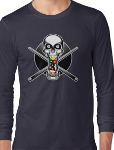 Skull and Pool Cues Long Sleeve T-Shirt