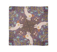 White Peacock in the Night Garden Mosaic Scarf