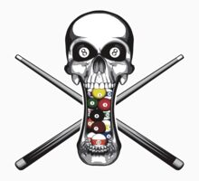 Skull and Pool Sticks by dxf1969