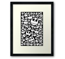 Halloween Ghost emoticon face pattern Framed Print