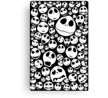 Halloween Ghost emoticon face pattern Canvas Print