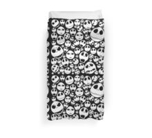 Halloween Ghost emoticon face pattern Duvet Cover