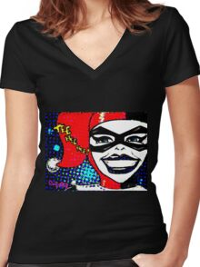 Tee Hee Hee! Women's Fitted V-Neck T-Shirt