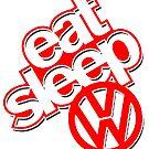 EAT SLEEP VW by chasemarsh