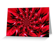 Poinsetta Passion Greeting Card