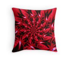 Poinsetta Passion Throw Pillow