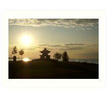 Sunset in Collingwood, Ontario Art Print