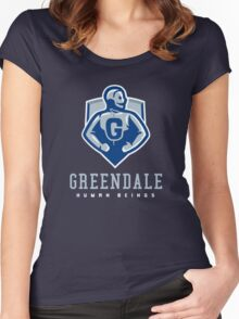 Greendale Human Beings Women's Fitted Scoop T-Shirt