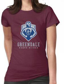 Greendale Human Beings Womens Fitted T-Shirt