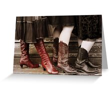 These boots were made for walking 001 Greeting Card