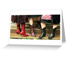 These boots were made for walking 002 Greeting Card