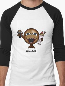 Choc Ball Men's Baseball ¾ T-Shirt