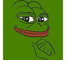 Smug Pepe - Pepe the Frog Photographic Print